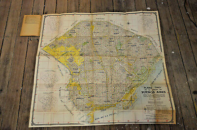 """Old and rare book with map of Buenos Aires, Argentina-Plano """"Trio""""-1956-"""