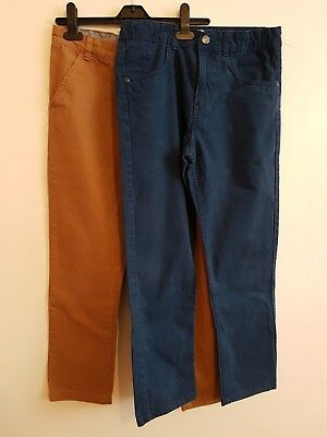 Ref 10 Childrens Boys Teenagers Bundle Blue Jeans & Brown Jeans Age 12-13 Years