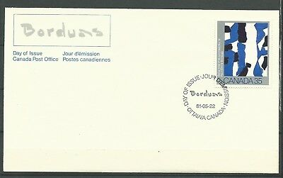 """CANADA, FDC, w/SINGLE STAMP, """"CANADIAN PAINTERS"""" SCOTT 889"""
