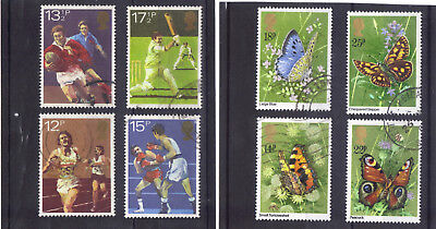 QE II VFU commemoratives 1980 Sports & 1981 Butterflies