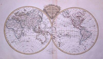 1812 Large, Decorative Malte Brun Map of the World