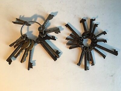 JOB LOT OF ANTIQUE BOX & CABINET KEYS For Spares