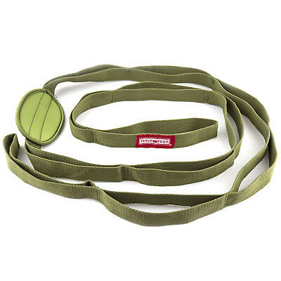 Peace Yoga 7ft Cotton Fitness Exercise Yoga Belt Stretch Strap w/ Multiple Loops