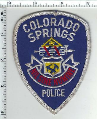 Colorado Springs Police - Uniform Take-Off Shoulder Patch from the 1980's