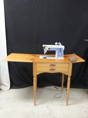 Vintage Singer Sewing Machine Model 604 w/Table Interesting Rare Old Furniture