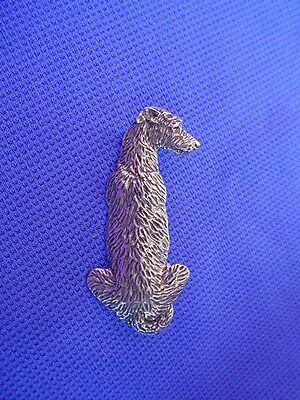 Scottish Deerhound or IW pin SIT #16K Pewter Dog Jewelry by Cindy A. Conter