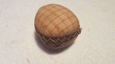 Early 19Th C Brown Hand Stitched Pin Cushion
