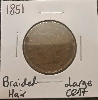 1851 Braided Hair Large Cent!