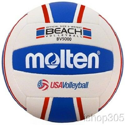 Molten BV5000-3 Elite Beach Volleyball - Red/White/Blue Official Size 5