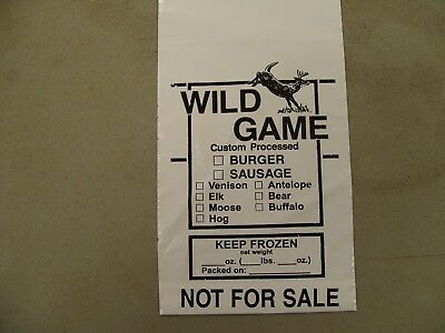 Ground Meat Bags (WILD GAME) 1 pound bag; 2 mil polyethylene 1000 count