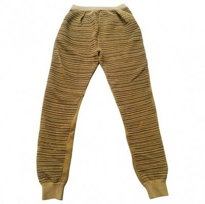 Balenciaga Nicolas Ghesquiere Mustard Knitted Track Pants Trousers FR 36