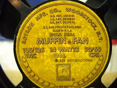 Set of 2 Rotron Gold Seal Muffin Cooling Fan 115 Volt