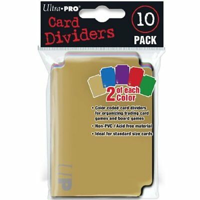 10 Ultra Pro Card Dividers - Colored - Deck Divider - 84782