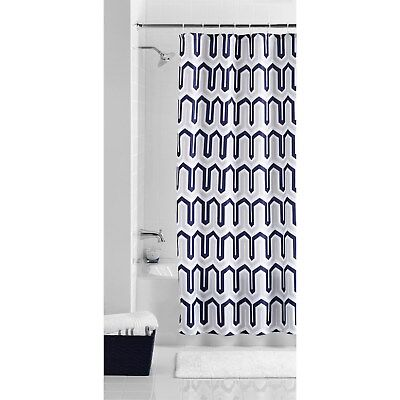 Mainstays Shower Curtain 70x72 Blue Beige New 2280