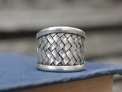 Ethnic Miao silver woven ring Handmade adjustable boho ring Gift for her or him