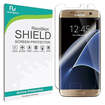 RinoGear Screen Protector for Samsung Galaxy S7 Edge (Active Clear Shield)