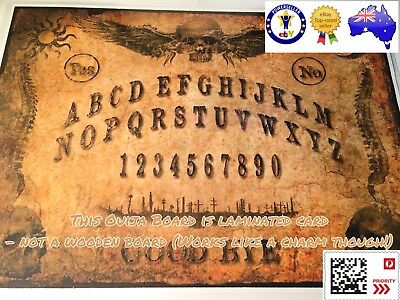 'The Dark Side' Ouija Board With Planchette -Laminated Card (Not A Wooden Board)