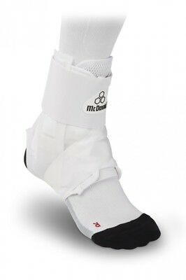(Large, White) - McDavid Light Ankle Brace with Figure-8 Strap. Free Shipping