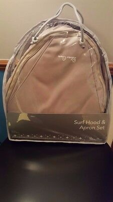 Brand New. Silver cross Surf Hood And Apron in Graphite and Sand