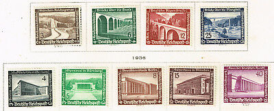Germany Third Reich Famous Architecture set 1936 MLH