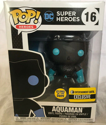 Funko Pop! Justice League Aquaman Silhouette Glow in the Dark EE EXCLUSIVE