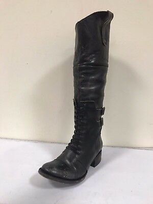 Women's Freebird By Steve Riding Boots Sadle Black- MSRP $349 - BUY IT NOW $119!