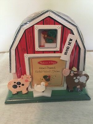Melissa & Doug Hand Painted Solid Wood Circus Train Animal Picture Frame Kids