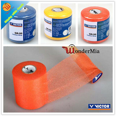 VICTOR [70mm x 27m] Badminton Racket Grip Handle Wrap GR50 (ORG,BLUE,YELLOW) CA