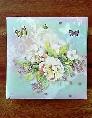 Butterfly Blossom Design Memo Pad with Matching Pen - Mum Nanna Grandma Gift