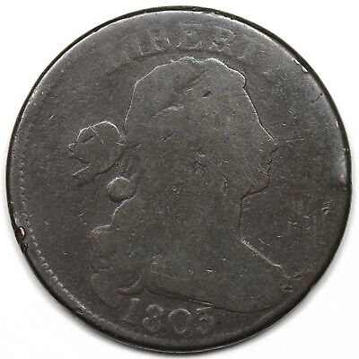1803 Draped Bust Large Cent, Small Date & Fraction, G