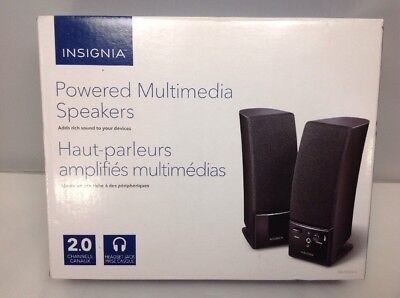 Insignia NS-PCS20 Computer Speakers MINT CONDITION