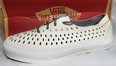 a8441fa445 Vans Authentic Leather One Piece DX Havana Perf Turtledove White Shoe  Women s 8