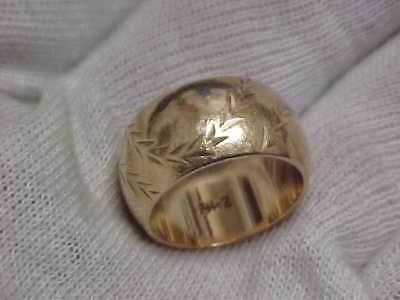 14k SCRAP GOLD 10.4 grams, 10mm wide BAND sold as SCRAP Gold, NO RESERVE AUCTION