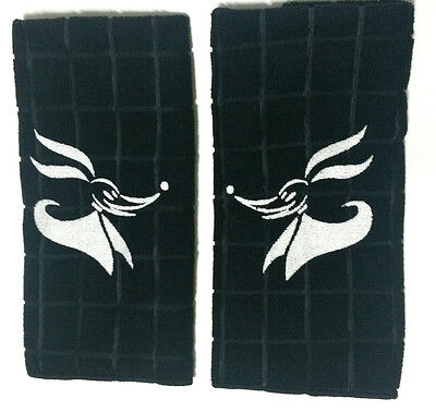 Embroidered Zero Hand Towel Set - Kitchen / Bathroom Nightmare Before Christmas