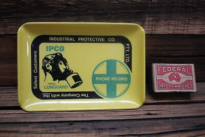 Vintage IPCO Lunguard Protective Wear Change Tray Old Tool Advertising