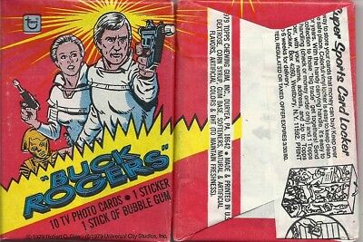 Buck Rogers in 25th Century- Wax Pack Trading Cards by Topps 1979 - Single Pack