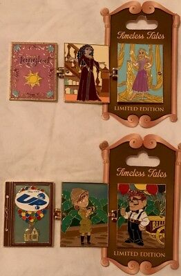Disney Parks Lot of 2 TANGLED RAPUNZEL & UP TIMELESS TALES  Limited Edition Pin