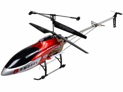 "53"" Large Remote Control Helicopter Outdoor RC 2 Speed Red Air Craft Flight Gift"