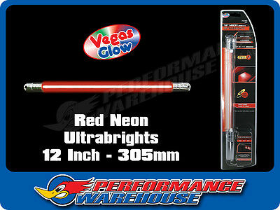 Vegas Glow Ultrabrights 12 Inch Neon Red Pulses To Music Car Ute Boat