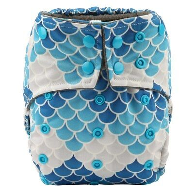 All In One Baby Cloth Diaper Nappy Built Insert Night Reusable Born To Scales