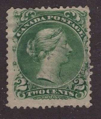 Canada used #24b 2c    LARGE QUEEN ISSUE 1868 VG