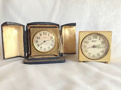 Two  Clocks: Zenith in case and Tissot
