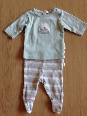 Purebaby Unisex Boy Girl Outfit Top Tshirt Leggings Pants Size 0000 AS NEW