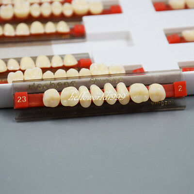 3 Set of 84*1 Dental Acrylic Resin Denture Teeth VITA Color A2 Upper Lower Shade