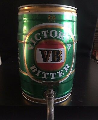 Victoria Bitter Vb 5 Litre Can Keg Barrel Beer On Tap Man Cave Bar Display Shed