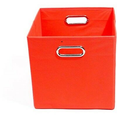 Modern Littles Bold Folding Storage Bin Infant Toys Box Organizer Solid Red New