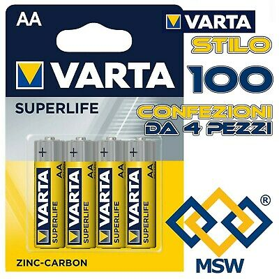 SONY Batterie Stilo 1,5V AA ULTRA HeavyDuty in Blister da 4 Pezzi ZINCO CARBONE