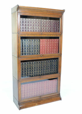 Antique Oak Globe Wernicke Barristers Library Bookcase Circa 1900