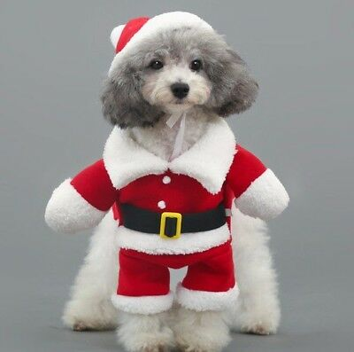 Christmas Santa Claus Pet/Dog/Cat Costume/Outfit/Clothes with Xmas Hat koalatots