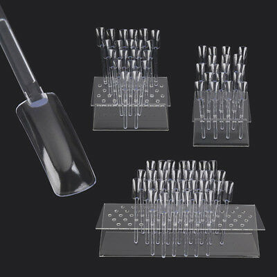 18/32/64 Nail Art Tips Colour Pop Stick Display Stand Clear False Practice Rack